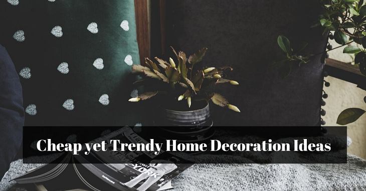 Cheap yet Trendy Home Decoration Ideas